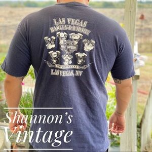 Harley Davidson Las Vegas made in USA tee A35